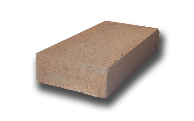 mattone rettangolare in cotto per rivestimenti coprimuro in cotto