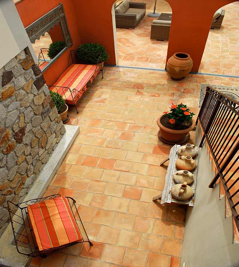 pavimenti cotto chiaro per le pavimentazioni esterne